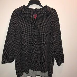 212 collection Black/White polka dot shirt~2X